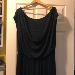 Plus size - ombré (navy/grey) maxi dress